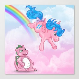 g1 my little pony Firefly and Spike Canvas Print