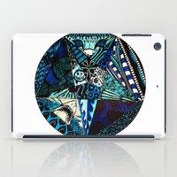 pentagram iPad Cases featuring Blue Toned Pentagram by Nix Hunt