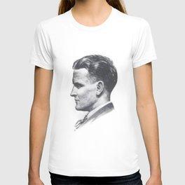 A portrait of F Scott Fitzgerald T-shirt