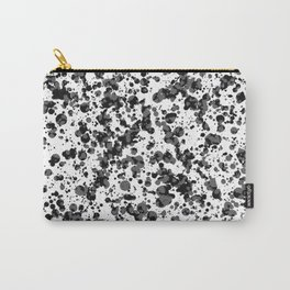 black splatter Carry-All Pouch