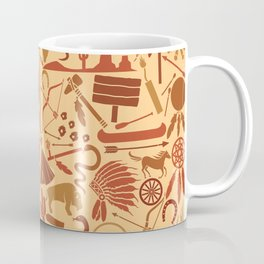native american indians icons seamless pattern Coffee Mug