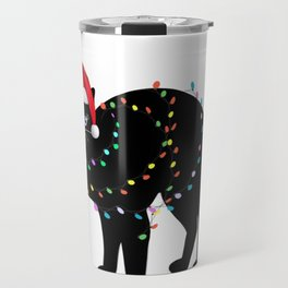 Christmas cat tshirt  Travel Mug