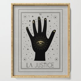 La Justice or The Justice Tarot Serving Tray