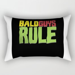 Bald Guys Rule Bald Bald Hair Funny Hair Rectangular Pillow