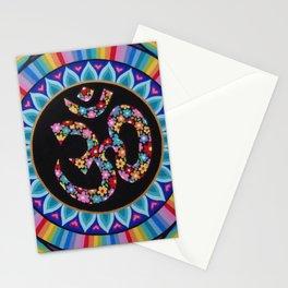 Flowery Om Mandala Stationery Cards