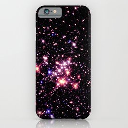 Quintuplet Cluster Pink Coral Violet iPhone Case