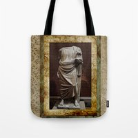 greece Tote Bags featuring Greece  by Saundra Myles