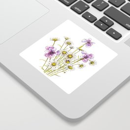 Iris and daisy flowers Sticker
