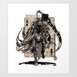 The Ace Of Spades Warrior Art Print
