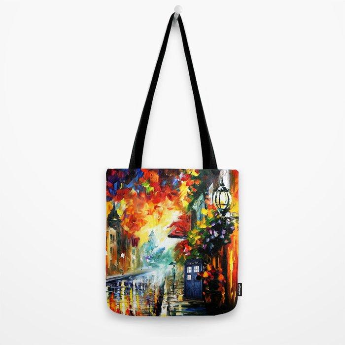Starry Tardis Night Tote Bag