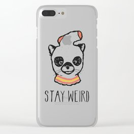 Stay Weird Clear iPhone Case