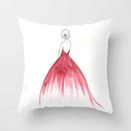 Woman in a Dress Throw Pillow