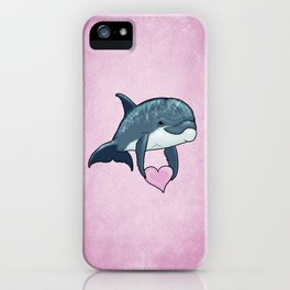 Love Ya! ~ Baby Dolphin by Amber Marine ~ Pink ~ (Copyright 2014) iPhone Case