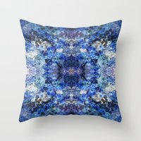 underwater Throw Pillows featuring Underwater by Angela Fanton