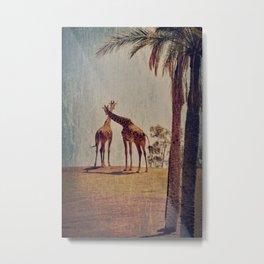 Giraffe Story Metal Print
