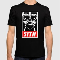 Obey Darth Vader (sith text version) - Star Wars Mens Fitted Tee Black MEDIUM