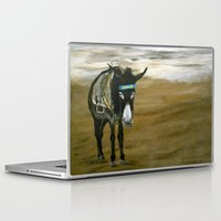 donkey Laptop & iPad Skins featuring Seaside Donkey by James Peart
