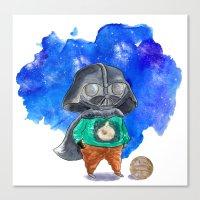 vader Canvas Prints featuring Vader by gunberk