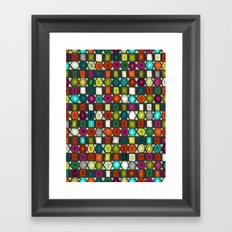hex strip jet Framed Art Print