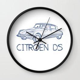 Pen drawing citroën cs Wall Clock