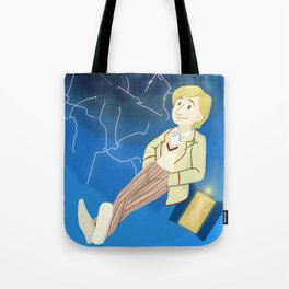 5th Doctor in th Time Vortex Tote Bag