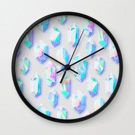 Iridescent Rainbow Crystals Wall Clock