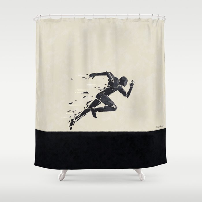 Run your race ... Shower Curtain