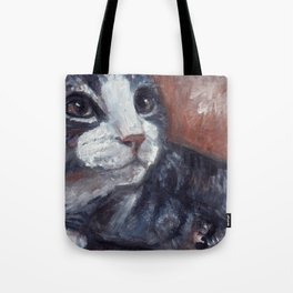 Boots the feral / art for cat lovers Tote Bag