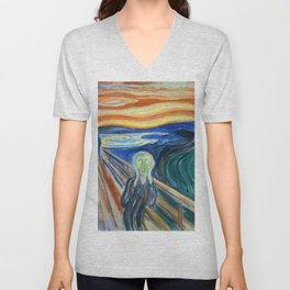 """Edvard Munch """"The Scream"""" (1910) Unisex V-Neck"""
