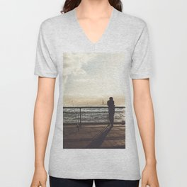 Lady Liberty, my man, some fisher people. Unisex V-Neck
