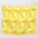 Watercolour Honeycomb by zoeswann