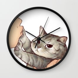 cat : hmmmmm! Wall Clock