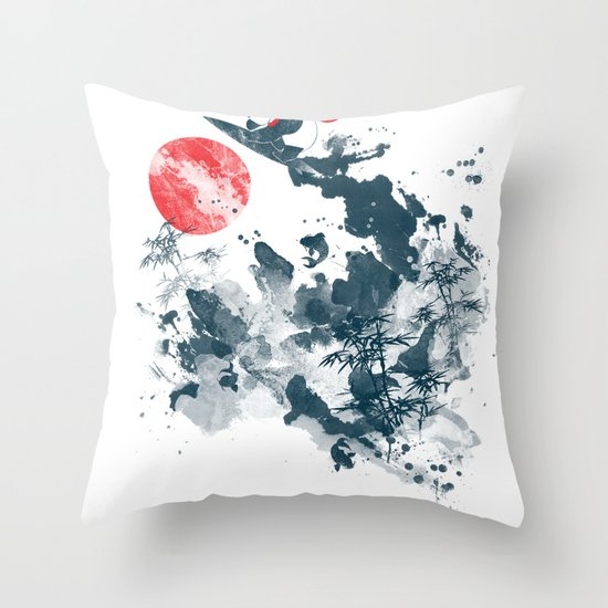 Go!Go! surf time! Throw Pillow