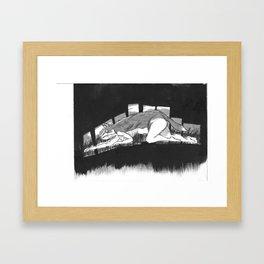 Series 1: Creep Fox Framed Art Print