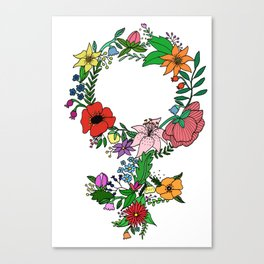 Feminist flower in color Canvas Print