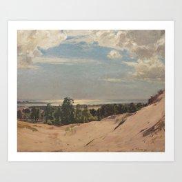 Blue and silver, Pas-de-Calais, 1929, by Algernon Talmage. Art Print