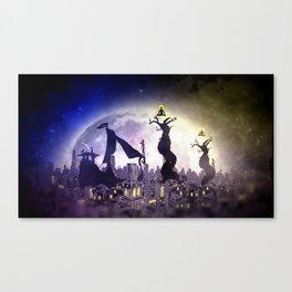 God Gamble City Canvas Print