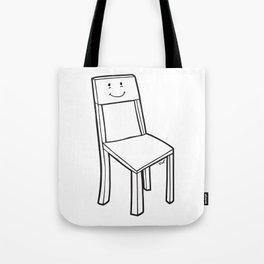 chair boy Tote Bag