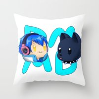 dmmd Throw Pillows featuring DMMD- chibi Aoba and Ren by prpldragon