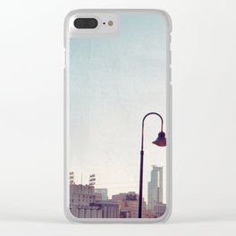 Minneapolis Minnesota Skyline at the Stone Arch Bridge Clear iPhone Case