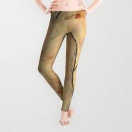 "Egon Schiele ""Female Nude Pulling up Stockings, Back View"" Leggings"