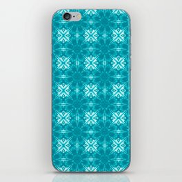 Teal Floral Geometric iPhone Skin
