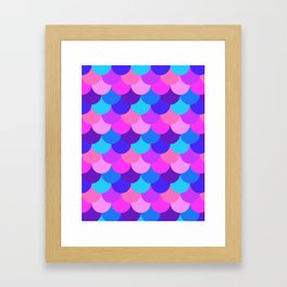 Scalloped Confetti in Electric Orchid Multi Framed Art Print