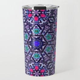 Pink Daisy Mandala Travel Mug