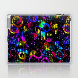 Sweet As Candy Black - colorful watercolor pattern by Lo Lah Studio Laptop & iPad Skin