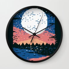Starry Pixel Night Wall Clock