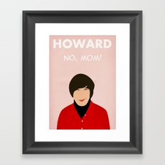 The Big Bang Theory - Howard Framed Art Print