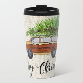Merry Christmas, wagon Travel Mug