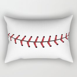 Baseball Lace Smile Rectangular Pillow