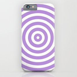 Circles (Lavender & White Pattern) iPhone Case
